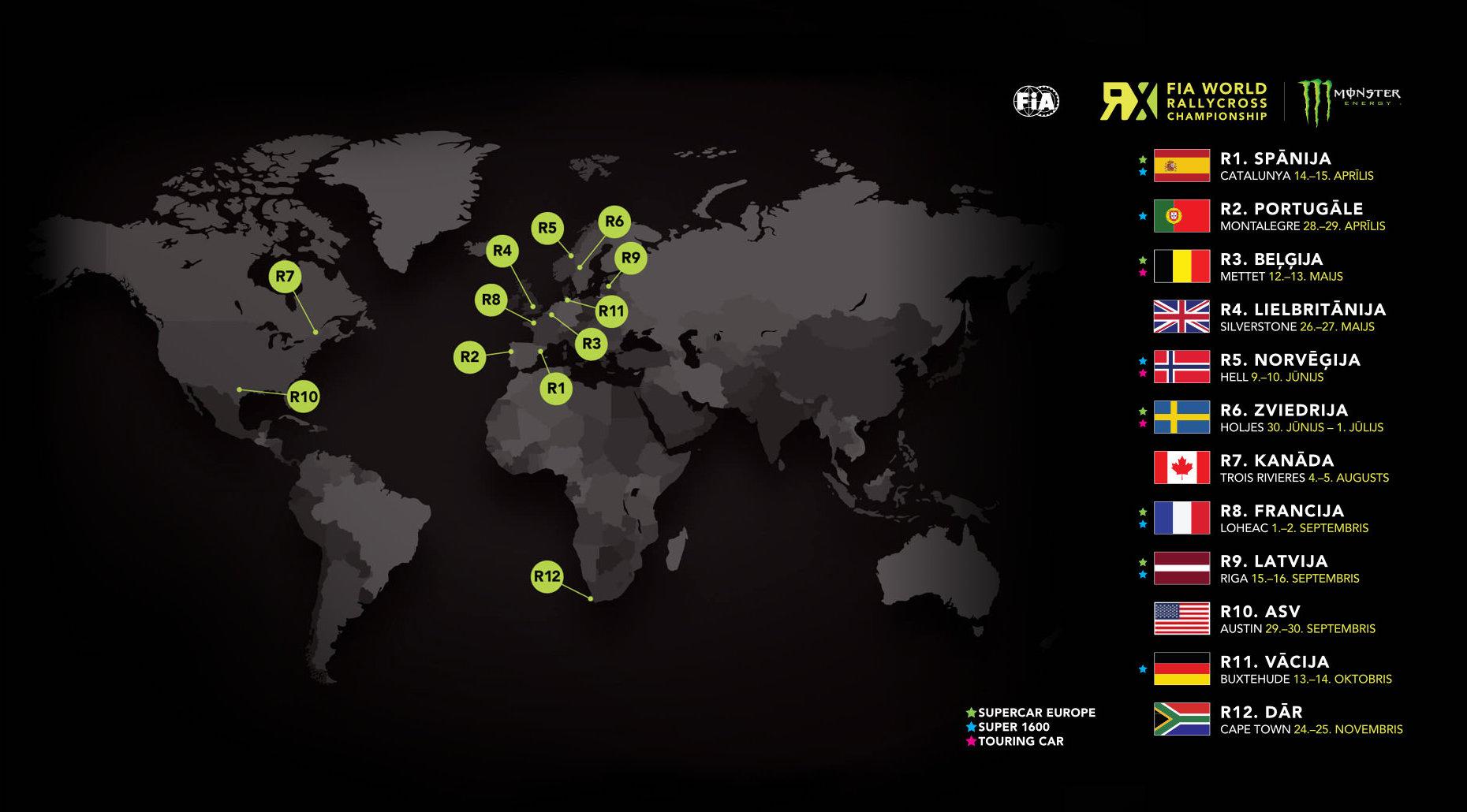 World RX kalendārs