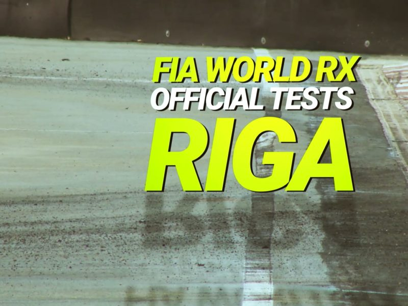 📽📽 #WorldRX2018 #RigaTesting