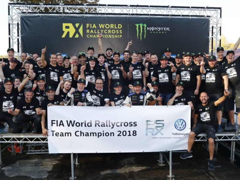 PSRX VOLKSWAGEN SWEDEN CLAIM WORLD RX TEAM TITLE IN GERMANY